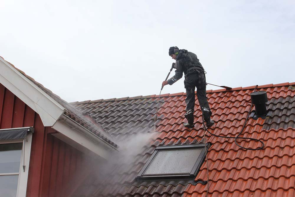 göra rent tak
